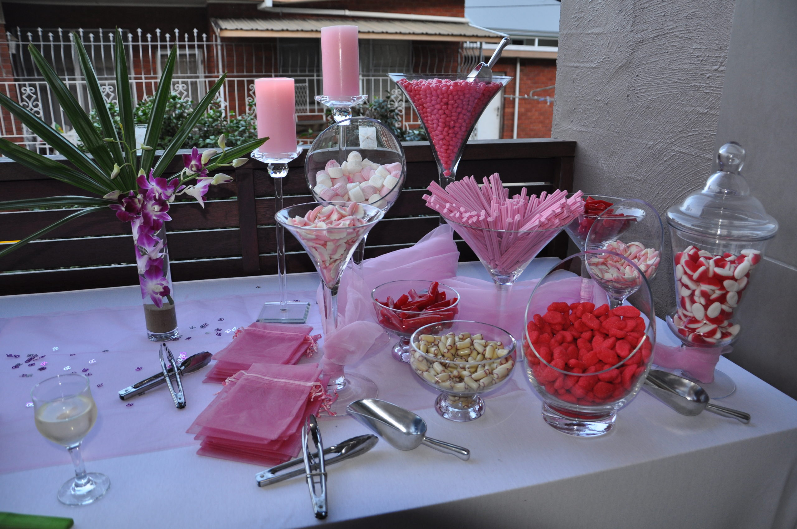 lolly bar at birthday party central coast catering