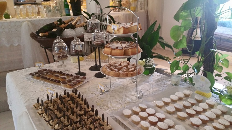 assorted desserts on desert table by Lemongrass Catering Central Coast